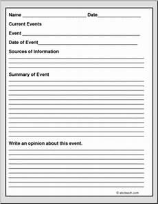 current event report form i abcteach com abcteach