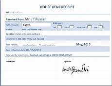 house rent receipt formats 12 free printable word