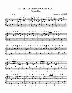 in the hall of the mountain king by edvard grieg piano sheet music advanced level