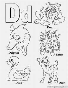 kids page letter d alphabet letters printable worksheet