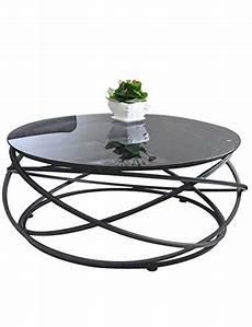 Table Basse Ronde Noir