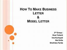 How To Make A Business How To Make Business Letter 2