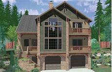 great small hillside home plans new home plans design