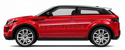 Compact Red Car  Side View Stock Illustration