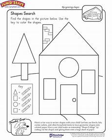shapes search view math worksheet shapes for 1st graders jumpstart