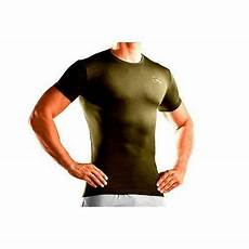 armour heat gear compression t shirt in army brown