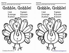 T Is For Thanksgiving Coloring Pages Classroom Freebies Color By Number Turkey