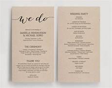 wedding programs printable template printable program we do diy printable pdf instant