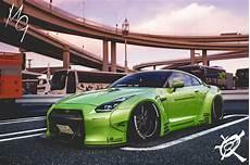 Green Slammed Cars Nissan Infiniti Nissan Gtr R35