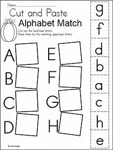 abc worksheets for kindergarten free 24656 alphabet match worksheet for fall madebyteachers