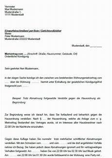 abmahnung wegen ruhestörung 24 beseelt k 252 ndigung wegen eigenbedarf muster robert cv
