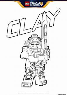 Nexo Knights Ausmalbilder Clay Coloriage Lego Nexo Knights Clay Dessin