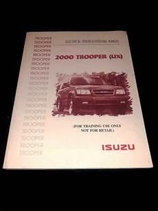 2000 isuzu trooper wiring diagram 2000 isuzu trooper suv electrical wiring diagram manual s xs ls 2 6l 2 8l v6 ebay
