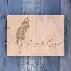 plume livre d or de mariage sur bois lacarteraie fr