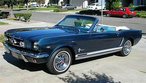 1965 Mustang Convertible In Nightmist Blue