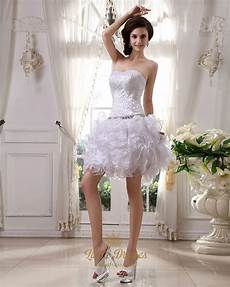 white strapless ruffled skirt wedding dresses with