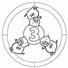 Mandala Malvorlagen Mit Zahlen Kostenlose Malvorlage Mandalas Zahlen Lernen 3 Zum Ausmalen