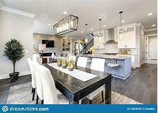 beautiful kitchen in luxury modern contemporary home