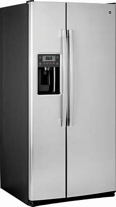 gss23gskss ge 33 quot 23 2 cu ft side by side refrigerator stainless stee