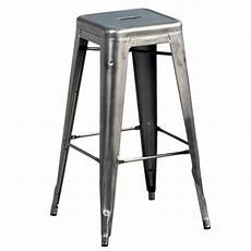 tabouret de bar metal tolix tabouret haut tolix h acier brillant made in design