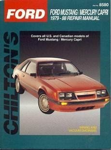 free service manuals online 1988 ford mustang regenerative braking 1979 1988 chilton ford mustang capri repair manual 801985803 ebay