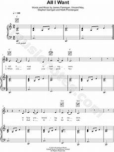 kodaline quot all i want quot sheet music in c major transposable download print sku mn0110725