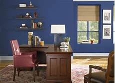 blue colored office