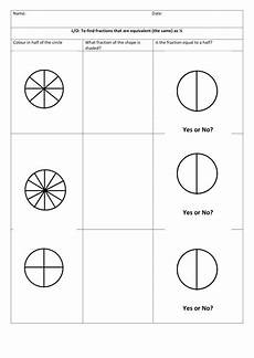 fraction worksheets half 3953 fractions equivalent to half by sstokes26 teaching resources tes
