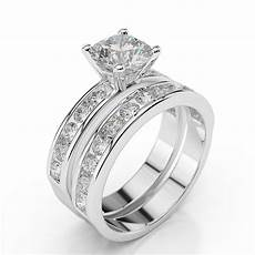 1 3 4 ct diamond engagement ring h si1 14k white gold enhanced ebay