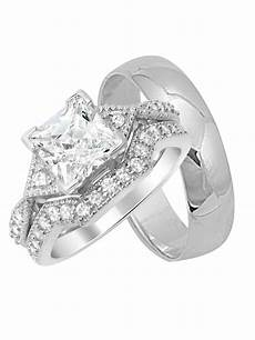 laraso co his hers silver matching wedding bands ring