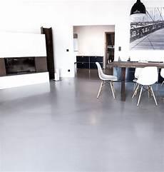 Wohnzimmer Designboden Sichtestrich Beton Wohnzimmer