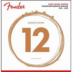 guitar strings 12 53 fender 860l phosphor bronze dura tone coated acoustic guitar strings 12 53 guitar center