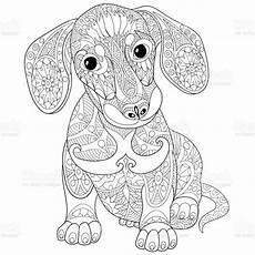 Hunde Ausmalbilder Dackel Dackel Welpe Hund Stock Vektor Und Mehr Bilder