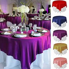 Wedding Tablecloths Ideas square satin tablecloth table cover for banquet wedding