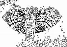 therapy coloring page africa elephant 8
