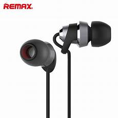 Remax Metal Stereo Earphone Wired Earbuds by Remax Rm 585 Metal Headset Ear Bass Voice Earphone