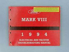 electric and cars manual 1994 lincoln continental on board diagnostic system electrical vacuum troubleshooting manual 1994 lincoln mark vlll fps 12120 94 ebay