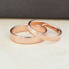 rose gold wedding band gold wedding rings 3mm and 4mm