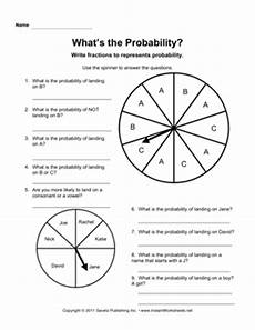 probability worksheets spinners 5883 17 best images of probability worksheets for 4th grade math probability worksheets