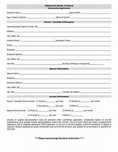 scholarship form business website
