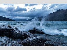 coast, Waves, Nature, Clouds, Lake, Landscape, Rock