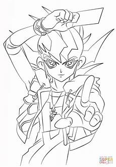 zexal from yu gi oh coloring page free printable