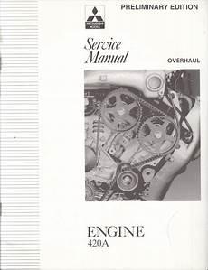 car engine repair manual 1995 mitsubishi eclipse electronic valve timing 1995 mitsubishi eclipse 420a engine service overhaul repair shop manual preliminary