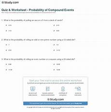 probability of compound events worksheet with answer key 5980 probability of compound events worksheet with answer key akademiexcel