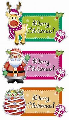 merry christmas labels free vector