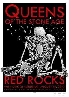 inside the rock poster frame blog emek queens of the stone age rocks poster