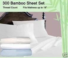 bamboo fiber bed sheet sets queen size ebay