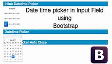 date time picker input field using bootstrap