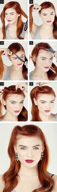 easy vintage hairstyles easy retro hair tutorial love and sayings