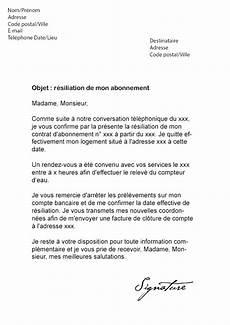 Changement D Abonnement Edf Lettre De R 233 Siliation Veolia Eau Mod 232 Le De Lettre